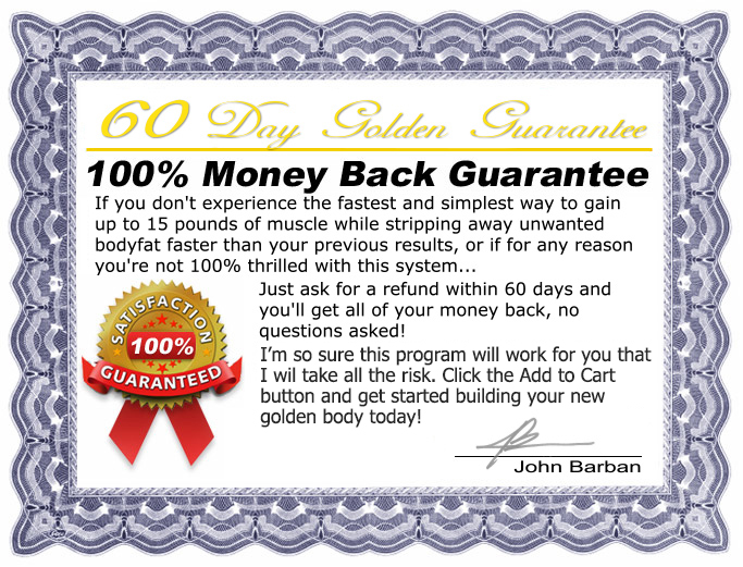 100% money back guarantee adonis golden ratio Review